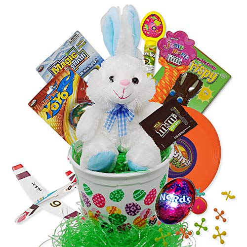 Fun Filled Blue Traditional Easter Baskets For Kids