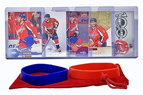 Alexander Ovechkin (5) Assorted Hockey Cards Bundle - Washington Capitals Trading Card