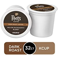 Peet's Coffee Major Dickason's Blend, Dark Roast, 32 Count Single Serve K-Cup Coffee Pods for Keurig Coffee Maker