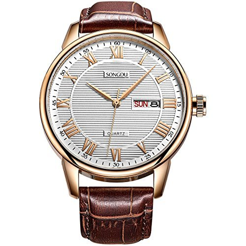 MBK Men's Automatic Fashion Wrist Watches Date Analog with Stainless Steel Mesh Band by SONGDU