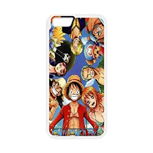 [One Piece Series] IPhone 6 Plus Cases One Piece, Bloomingbluerose - White