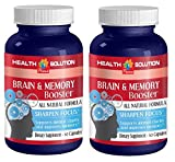 Glutamine capsules - BRAIN AND MEMORY BOOSTER - support brain cell communication (2 bottles)
