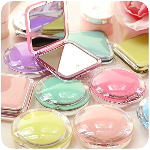 Childrens Mirror Mini Square Simple Candy Small Glass Mirrors Circles for Crafts Decoration Cosmetic Accessory Yellow by Yingealy (Image #4)