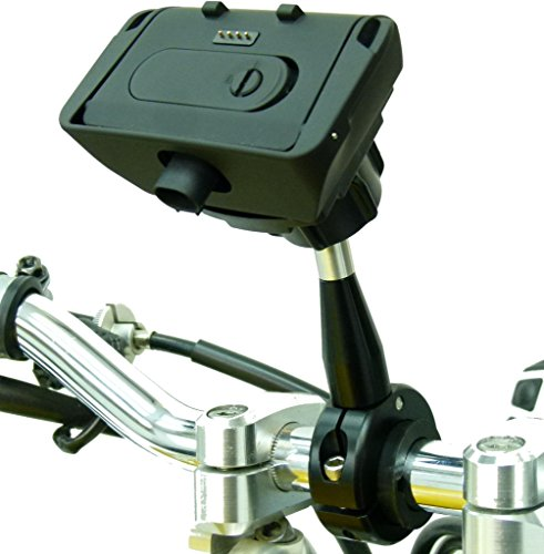 Extended 9cm Metal Motorcycle Mount & Dock for TomTom Rider Rider 2, Urban & PRO by Buybits