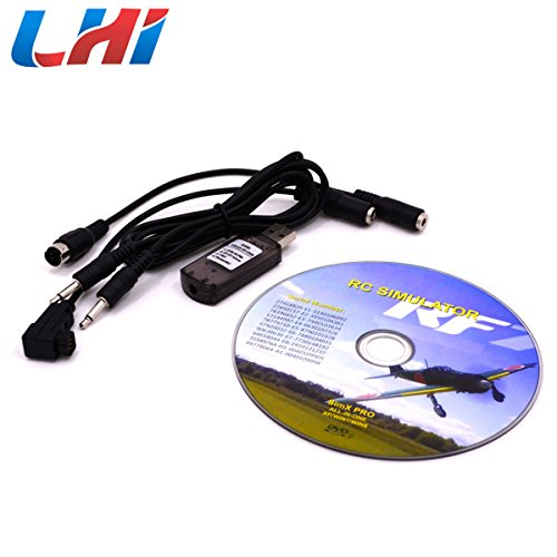 LHI RC Simulator 22 in 1 USB Flight Simulator Cable for Realflight G7 / G6 G5.5 G5