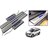 Car Door Led Sill Scuff Plate Foot Steps for - Xuv-500 (Set of 4 Pc) (by Lowrence)