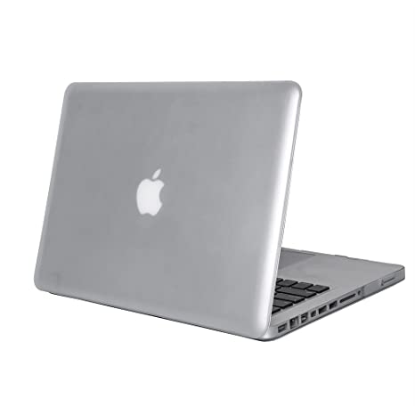 DETUOSI MacBook Pro 13 Funda Carcasa, Duro Caso Cubierta Plástica Piel Flip Folio Case Cover para Apple MacBook Pro 13 Funda Carcasa,Blanco