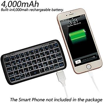 mini bluetooth keyboard portable ejiasu handheld wireless keyboard travel keyboard. Black Bedroom Furniture Sets. Home Design Ideas