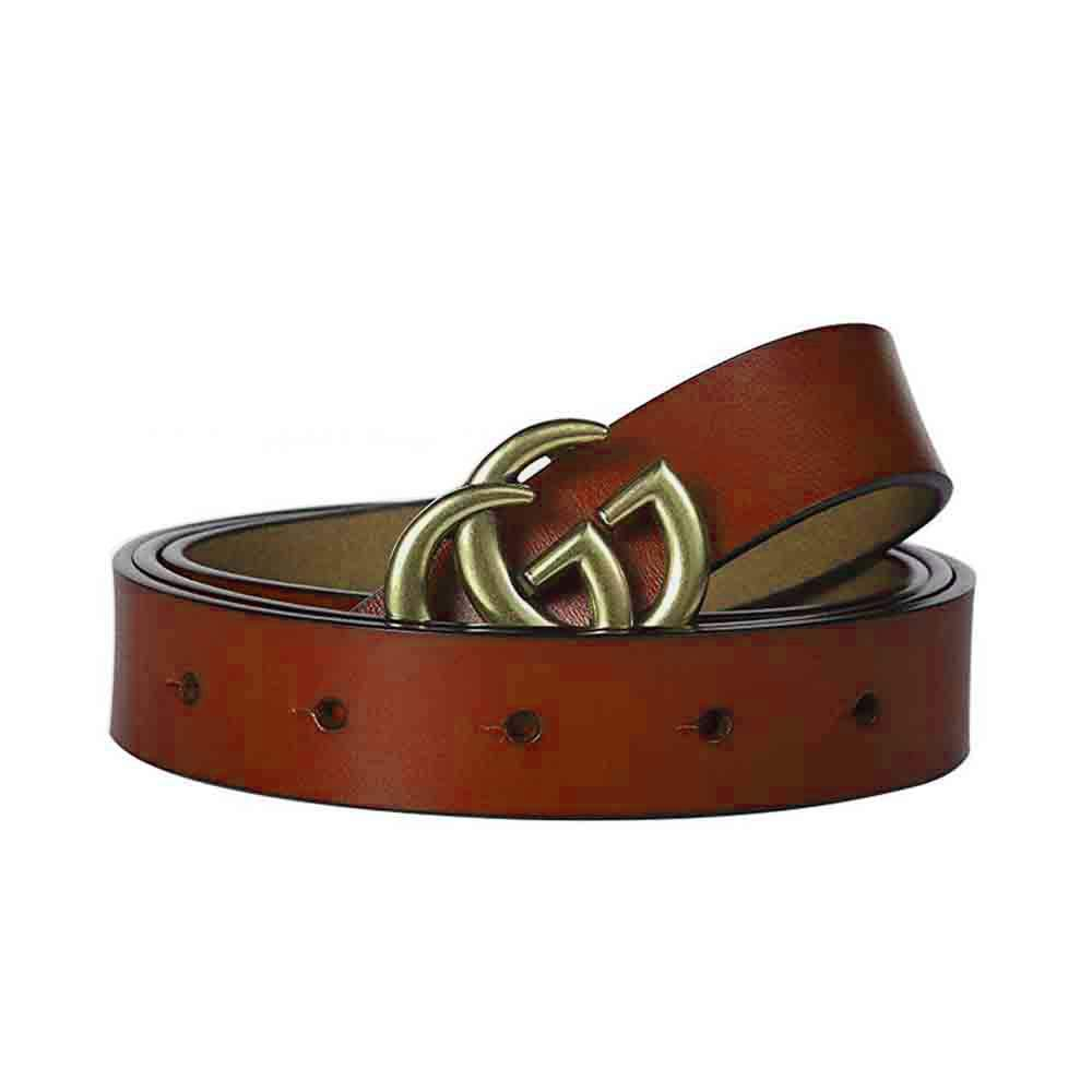 Womens Leather Belts Vintage Casual Thin Woman Belt For Buckle