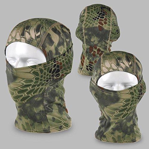 Acid Tactical® Mandrake Woodland Camouflage Balaclava Full Face mask Ninja hood Millitary Camo