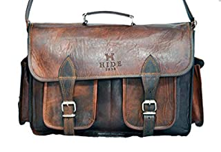"HIDE 1858 TM Genuine Leather Camera Office Satchel Bag 15"" (B00POTQSAI)   Amazon price tracker / tracking, Amazon price history charts, Amazon price watches, Amazon price drop alerts"