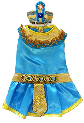 Pharoah King Of Egypt Costumes (Cleopatra Costume for Dogs (Size 1 (8