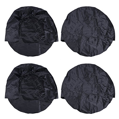 WINOMO 4pcs RV Wheel Cover Dustproof Waterproof Tire Covers for SUV Truck Camper Trailer Rv Fits 30 to 32