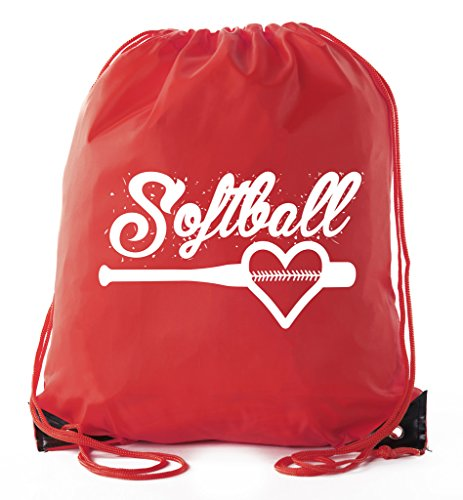 Softball Goody Bags, Softball Drawstring bags for Team Parties & Birthdays ()