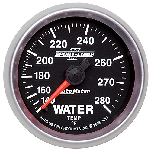 - Auto Meter 3631 Sport Comp II Mechanical Water Temperature Gauge
