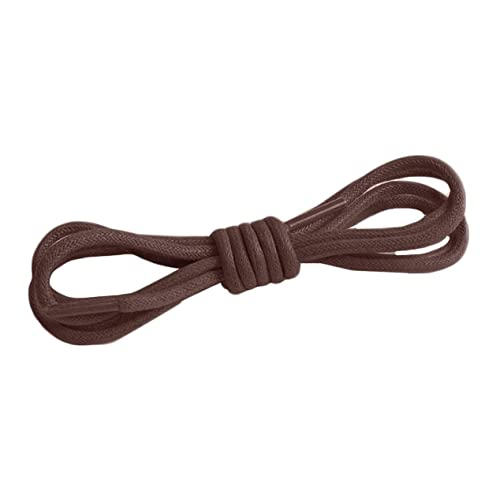 Shoelaces in waxed cotton 9 mm wide Boot Laces Black