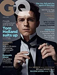 British GQ Magazine April 2021: Tom Holland Cover Feature Spider-man Cherry [Single Issue Magazine] Condé Nast