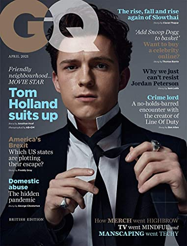 British GQ Magazine April 2021: Tom Holland Cover Feature Spider-man Cherry [Single Issue Magazine] Condé Nast Single Issue Magazine – March 5, 2021