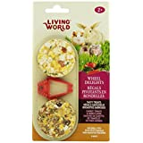 Living World 60690 2-Pack Small Animal Wheel Pet Treat Delights, 2.4-Ounce, Carrot/Tomato/Herb