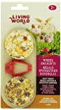 Living World 2-Pack Small Animal Wheel Pet Treat Delights, 2.4-Ounce, Carrot/Tomato/Herb