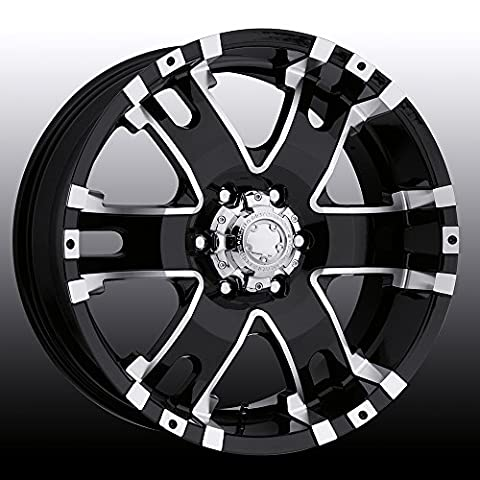 Ultra Baron 17 Black Wheel / Rim 5x5.5 with a 20mm Offset and a 107 Hub Bore. Partnumber 202-7985B