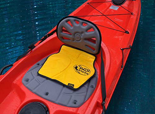 (Skwoosh Fishing Chair Seat Pad for All Style Kayaks Including Hobie Perception Diablo | Larry Chair Cushion Made in USA)