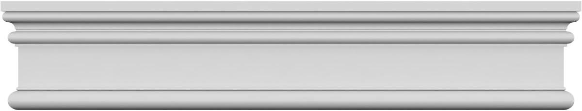 Ekena Millwork CRH06X38PN-3 38 Bottom Width x 40 Top Width x 5 1//2H x 1P Panel Crosshead