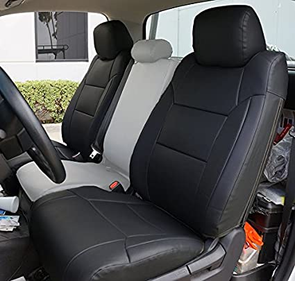 Toyota Tundra Seat Covers >> Amazon Com Toyota Tundra 2014 2016 Black Artificial Leather Custom