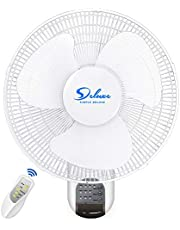 Simple Deluxe 16-Inch Digital Wall Mount Oscillating Exhaust Fan with Remote and Built-In Timer, 1 Pack (HIFANXWALLDIGIT-A)