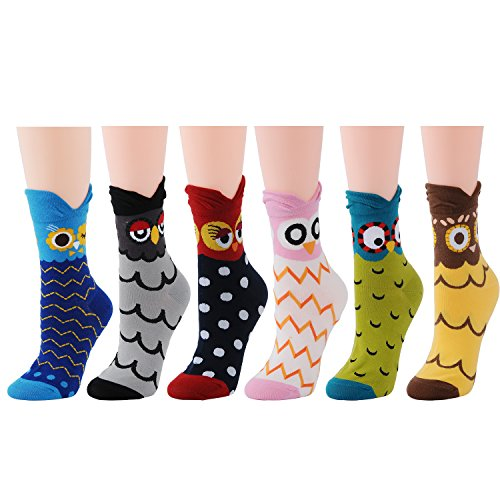 Owl Scarf - Deer Mum Women Lady Cute Novelty Owl Design Casual Fashion Socks
