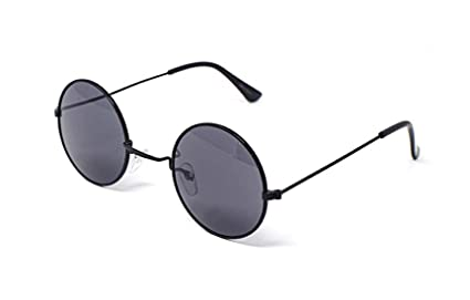 55f13d4647 Black Frame with Smoke Lenses Ultra Adults Retro Round Sunglasses Small  Style John Lennon Sunglasses Vintage