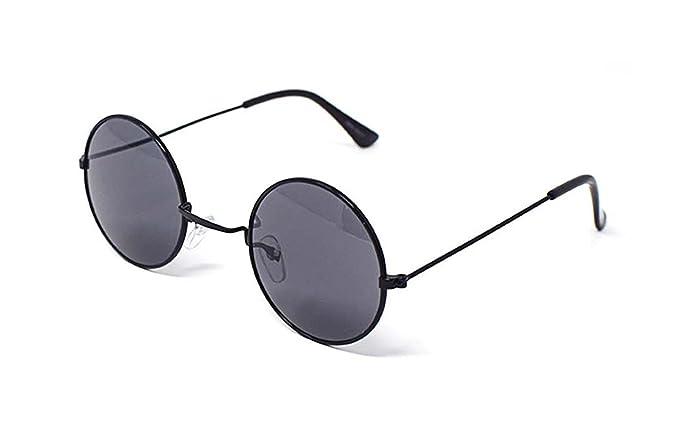de10f3d05f5e4 Ultra Black Frame with Smoke Lenses Adults Retro Round Sunglasses Small Style  John Lennon Sunglasses Vintage