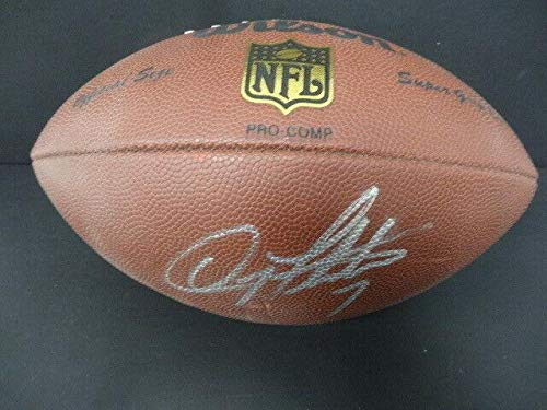 Doug Flutie Signed Wilson NFL Football Autograph Auto AE65849 - PSA/DNA Certified - Autographed College Footballs ()