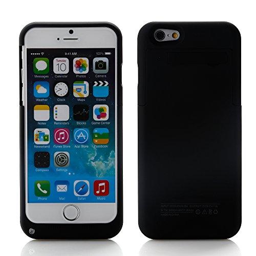 AGM Coque Batterie Ultra-Slim 3200mAh pour Apple iPhone 6 - 4.7 puces Batterie Externe Haute Capacité de Secours Remplacement Rechargeable Housse Etui Batterie Power Case de Protection - Noir