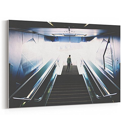 Westlake Art - Solitude Escalator - 5x7 Canvas Print Wall Art - Canvas Stretched Gallery Wrap Modern Picture Photography Artwork - Ready to Hang 5x7 (Solitude Wallpaper)