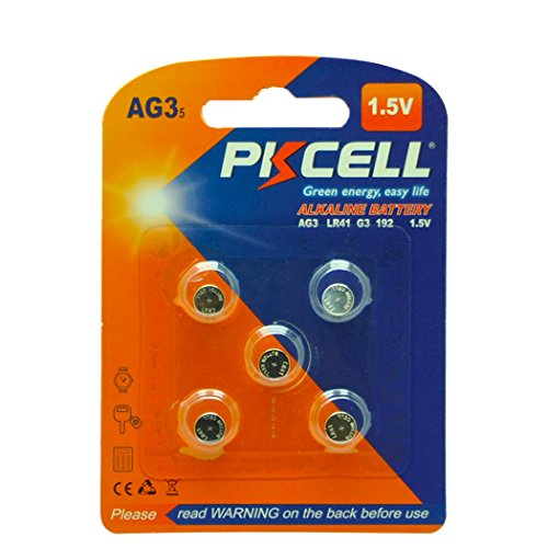 5 Pcs LR41 392 192 AG3 1.5V Alkaline Watch Batteries