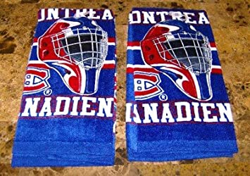 big sale 2d96b dfd5c LOT OF 2 MONTREAL CANADIENS HAND TOWEL LICENSED PRODUCT NEW ...