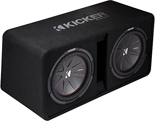 Kicker Dual 43DCWR122 12-Inch 2000W Loaded Subwoofer Enclosure (12 Subwoofer Competition With Box)