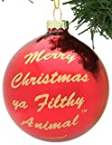 Tree Buddees Merry Christmas Ya Filthy Animal Glass Christmas Ornament