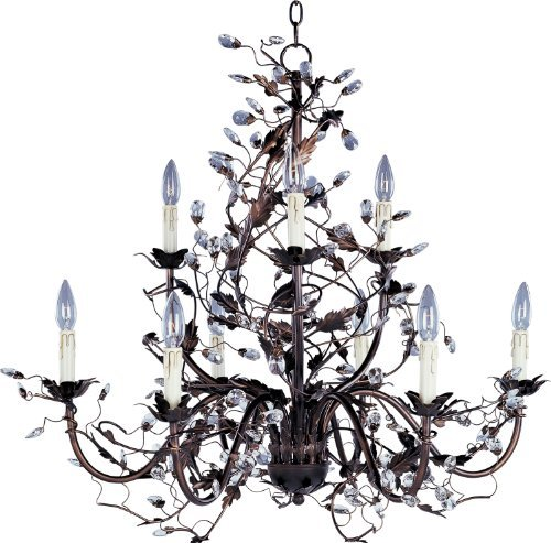 Maxim Lighting 2852OI Elegante 9-Light Chandelier, Oil Rubbed Bronze Finish by Maxim Lighting