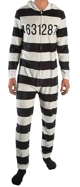 Amazon.com: Main Street - Traje de pijama para recluso con ...