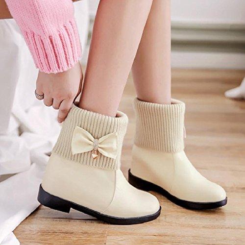 Boots Breve Knight Studenti Beige Stivali Stivali KHSKX