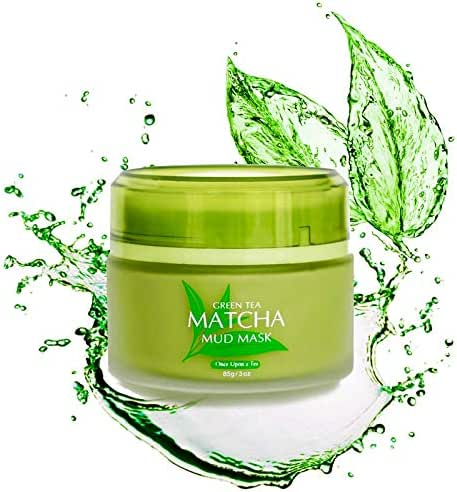 Green Tea Matcha Facial Mud Mask, Removes Blackheads, Reduces Wrinkles, Nourishing, Moisturizing, Improves Overall Complexion, Best Antioxidant, Skin Lightening & Anti Aging, All Skin Face Types
