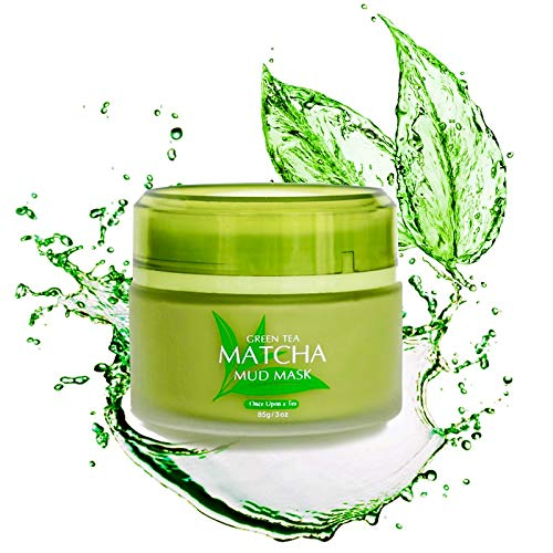 Green Tea Matcha Facial Mud Mask, Removes Blackheads, Reduces Wrinkles, Nourishing, Moisturizing, Improves Overall Complexion, Best Antioxidant, Skin Lightening & Anti Aging, All Skin Face Types ()