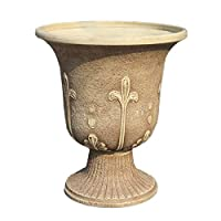 Exaco FM-0071 Endura Clay Modena Urn Planter, Sandstone