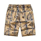 George Jimmy Cotton Shorts Casual Shorts Board Shorts Travel Beach Shorts for Men, E