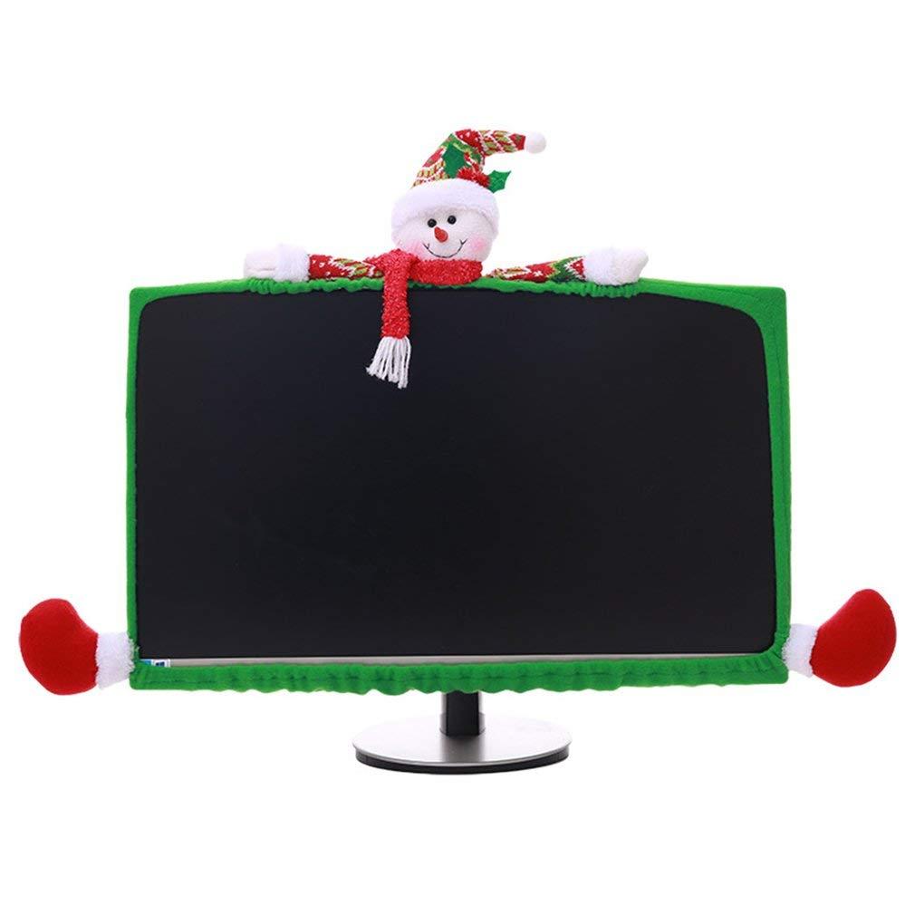 Hemore Decorazioni Computer Case Tessuti Non Tessuti di Natale Tridimensionale Molto Pratico di Feste e Compleanni Centritavola Soprammobili Natalizi