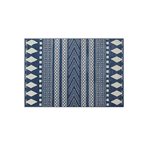 bluee 100x150cm(39x59inch) Doormat,Carpet for Door Stairs Balcony Front Door Anti-skidding Geometric Patterned-bluee 60x90cm(24x35inch)