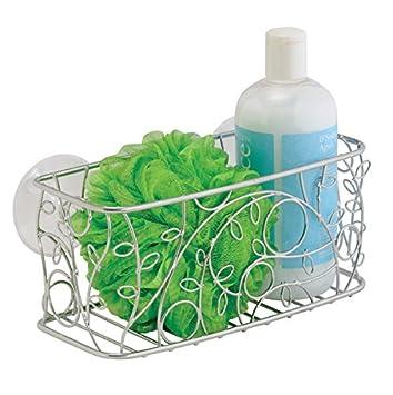 mdesign duschkorb zum hngen aus metall schicke duschablage fr shampoo schwmme rasierer und - Duschzubehor Zum Hangen