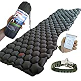 Ultralight Backpacking Air Sleeping Pad - Inflatable Sleeping Mat for Camping, Traveling and Hiking - Lightweight, Compact and Comfortable Air Cells Design